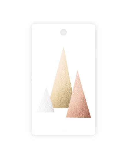 - metallic forest gift tag by Jenna Gibson
