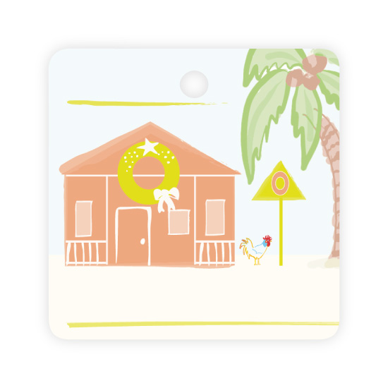 - Key West Holiday Tag Orange by Kelly Corcoran