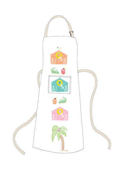 - Key West Holiday Apron by Kelly Corcoran