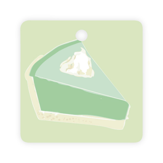 - Key West Holiday Tag Key Lime Pie by Kelly Corcoran