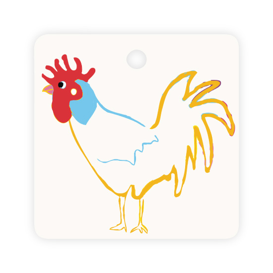 - Key West Holiday Tag Rooster by Kelly Corcoran