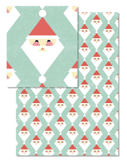 - Modern Jolly Santa by Oh So Smitten