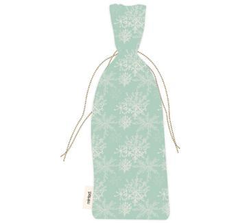 modern snowflake wine bag