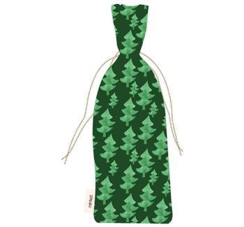 evergreen holiday wine bag