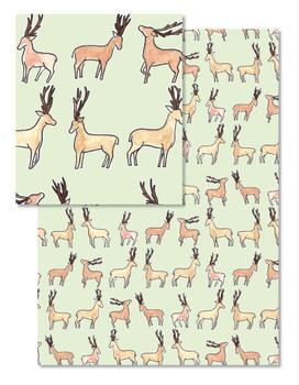 Prancing Watercolor Reindeer Giftwrap