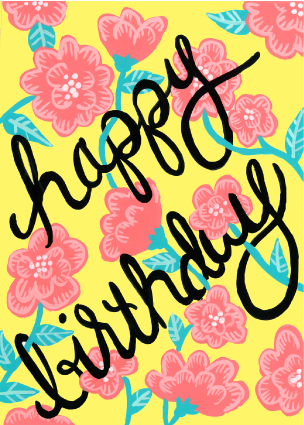 greeting card - Bright Floral Birthday by Brenna Daugherty