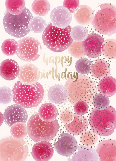 greeting card - Birthday Pink by Audra Candelaria