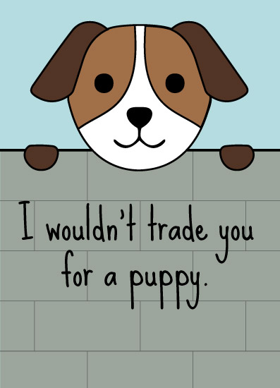 greeting card - A Friend and a Pup by Audra Candelaria
