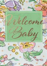 Welcome Baby. Glitter h... by Beki Marquardt