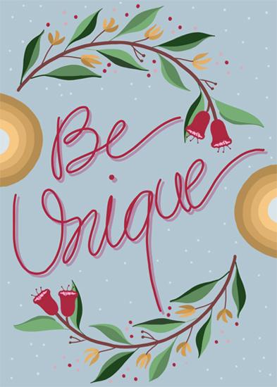 greeting card - Be Unique by pramila gupta