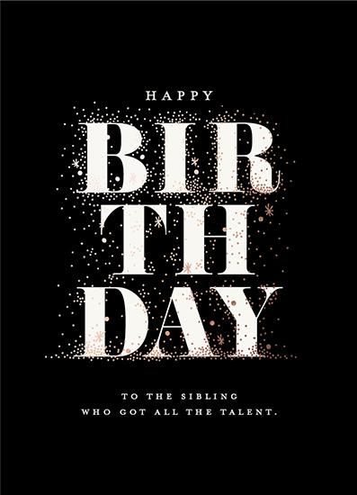 greeting card - Shining Birthday by iamtanya