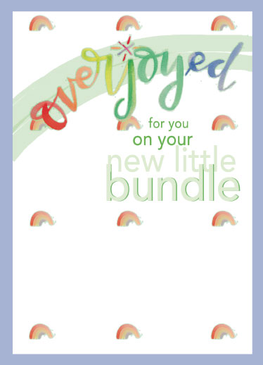 greeting card - Over the Rainbow with joy by Kendra Stanton Lee