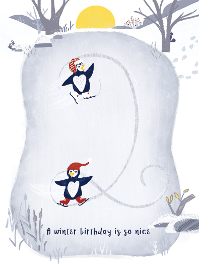 greeting card - Winter Birthday by Marie Hermansson