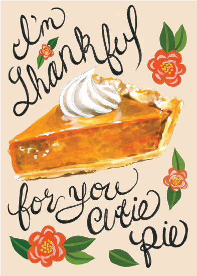 greeting card - Thankful for you! by Brenna Daugherty