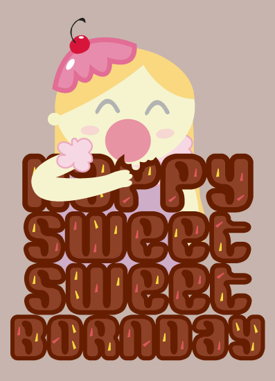 greeting card - Sweet Birthday by Nadia Irianto