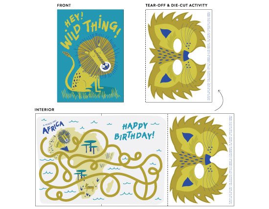greeting card - Hey Wild Thing! by Kayla King
