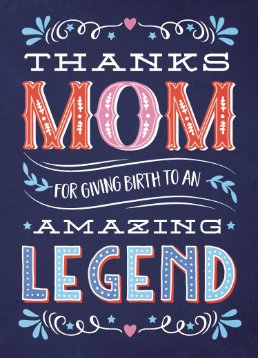 greeting card - Thanks Mom by Coco and Ellie Design