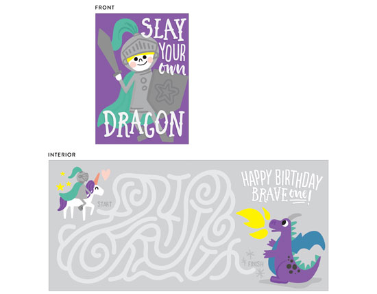 greeting card - Dragon Slayer by Jessie Steury