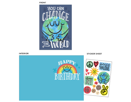 greeting card - Change the World by Jessie Steury