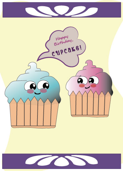 greeting card - Cute Cupcakes by JessJ13