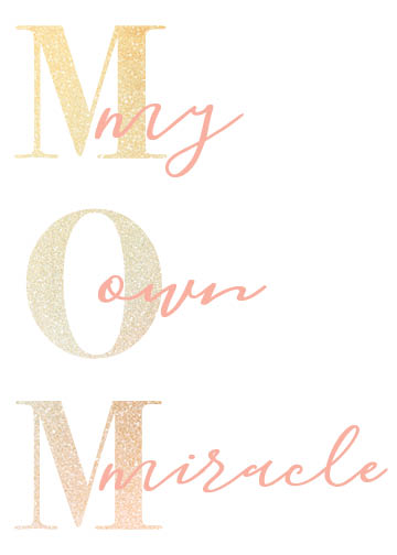 greeting card - MOM, My own miracle by sophie williams