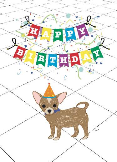 greeting card - Woof It Up Birthday card by Jennifer Warren