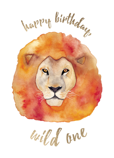 greeting card - Wild One Birthday by Erin Phipps