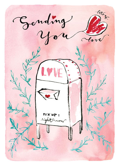 greeting card - Love Mailbox by Jean Choe