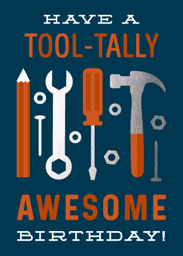 greeting card - Tool-Tally Awesome by Ink and Letter Designs