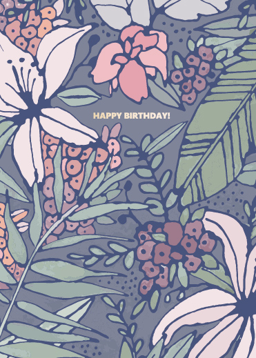 greeting card - Birthday Floral by Julie Rose