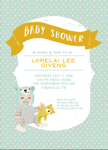 baby shower invitations - Tiny Bear by Sherei Co.
