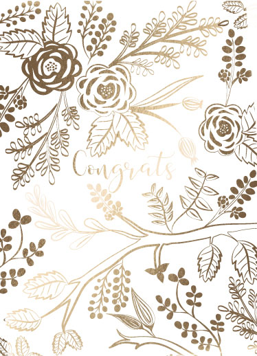 greeting card - Wildflower Congrats by Chelsea And Marbles Paper