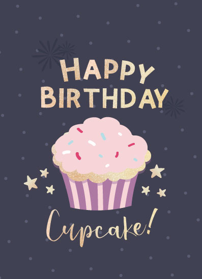 greeting card - Cupcake by Jorzheema Hamid