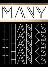 many thanks- b/w by Kate Cawood