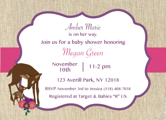 baby shower invitations - Deer Baby Shower invite by Jennifer Warren