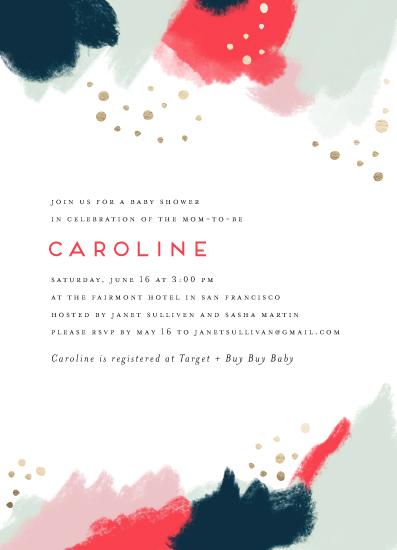 baby shower invitations - Painterly Splash by Maria Hilas Louie