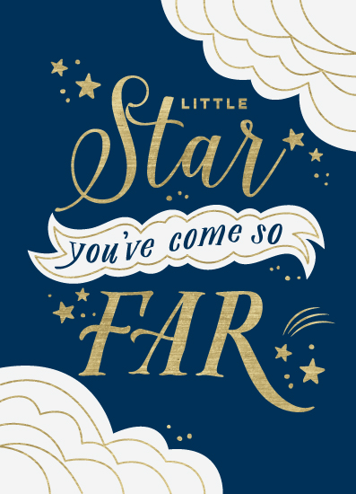 greeting card - Little Star You've Come So Far by Eleanor