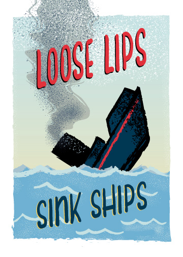 greeting card - Loose Lips by Maria Koontz