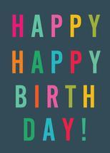 Rainbow Happy Birthday by Paper Etiquette