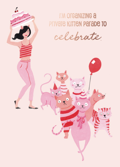 greeting card - Kitten Parade by Monica Saga