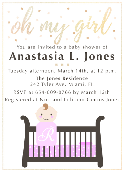 baby shower invitations - Oh My Girl by Nadia Irianto