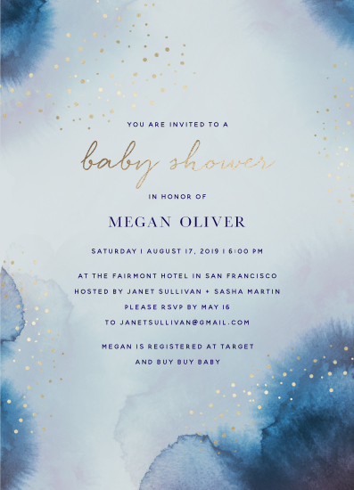baby shower invitations - Watercolor Pools by Maria Hilas Louie