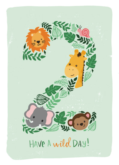 greeting card - Wild day! by Mayflower Press