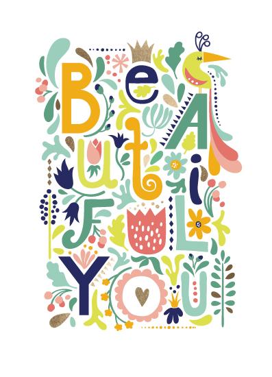 greeting card - Beautiful You by Katarina Berg