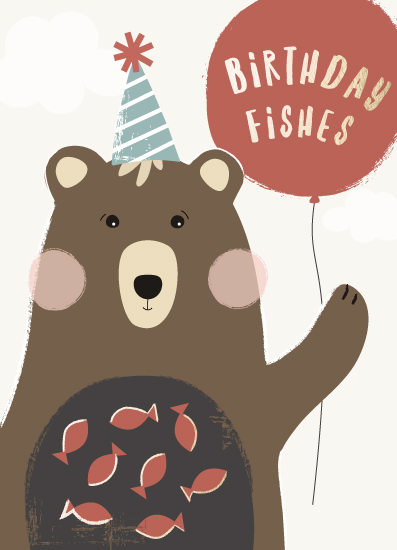 greeting card - let's eat fish by Faith Dorn