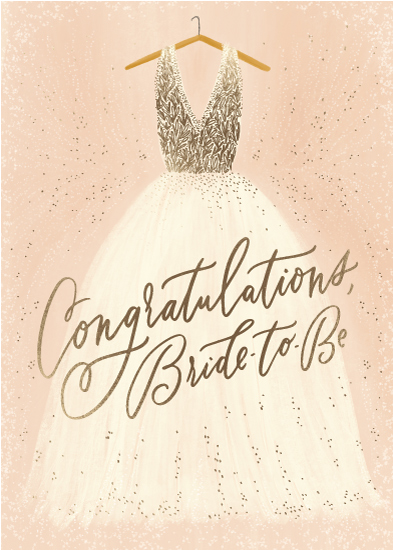 greeting card - Bride to Be by Julie Murray