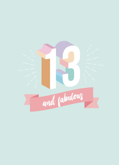 greeting card - 13 and fabulous by Jorzheema Hamid