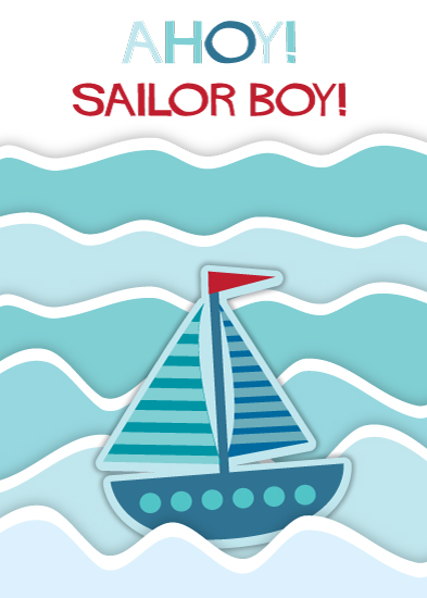 greeting card - Ahoy Sailor Boy by Camilla Acosta