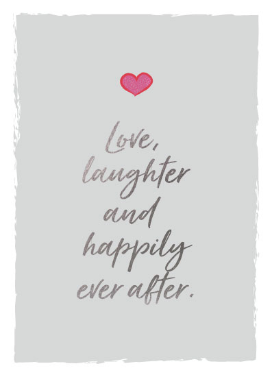 greeting card - Love Happily by LouisaKay
