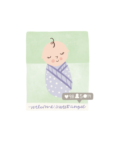 greeting card - Welcome Sweet Angel by Noonday Design